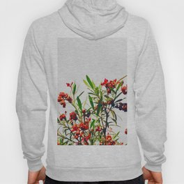 Minimal Red & Green Floral (Color) Hoody