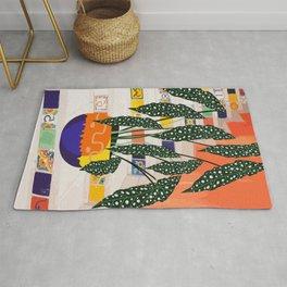 Dotted begonia #illustration Art Print Rug