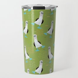 Dance of the Blue-Footed Booby Travel Mug