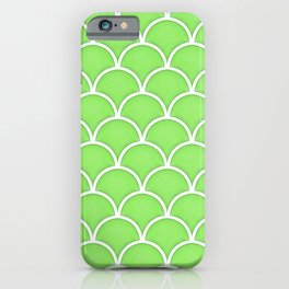 Green Flash large scallop pattern iPhone Case