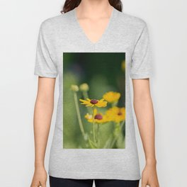 Portrait of a Wildflower in Summer Bloom Unisex V-Neck