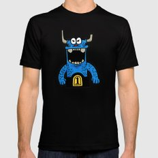 big blue Black SMALL Mens Fitted Tee