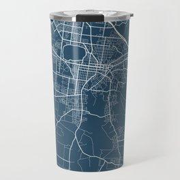 Ballarat Blueprint Street Map, Ballarat Colour Map Prints Travel Mug
