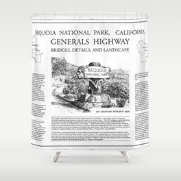 Cover Sheet - Generals Highway, Three Rivers, Tulare County, CA Shower Curtain