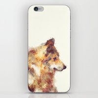 wolf iPhone & iPod Skins featuring Wolf // True by Amy Hamilton