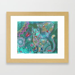 Garden Kitty Framed Art Print