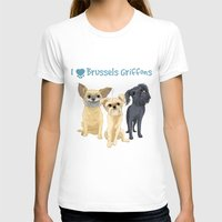brussels T-shirts featuring Brussels Griffon by Bark Point Studio