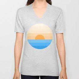 Sun goes down Unisex V-Neck