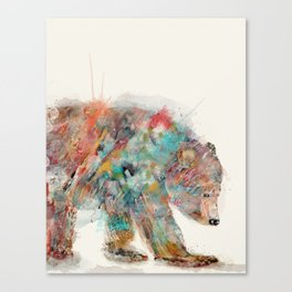 into the wild (the grizzly bear Canvas Print