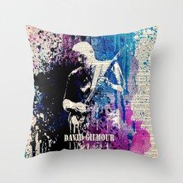 DAVID GILMOUR on dictionary Throw Pillow