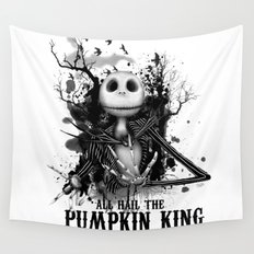 All Hail the Pumpkin King Wall Tapestry