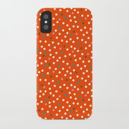 Pink Flamingo Polka Dots iPhone Case