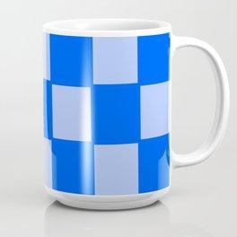 Pure and Pale Blue Checker Background Coffee Mug
