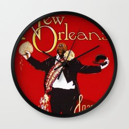 1976 New Orleans Jazz Festival Advertising Gig Poster Wall Clock