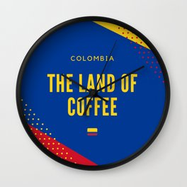 Colombia the Land of Coffee Wall Clock