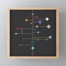 winter equinox Framed Mini Art Print