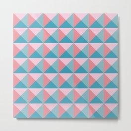 PPYRAMIDD - Geometric, Triangle, Pyramid, 3D, Pink Metal Print