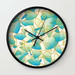 Fragrant Fragments - all over pattern Wall Clock