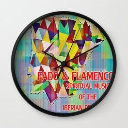 Fado & Flamenco Wall Clock