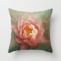 lotus Throw Pillows featuring Lotus by Pauline Fowler ( Polly470 )