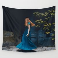 dance Wall Tapestries featuring Dance by Jovana Rikalo
