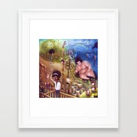 potato Framed Art Prints featuring Potato by Yoyogi Park