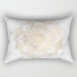 Marble Gold Mandala Design Rectangular Pillow