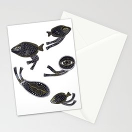 underwater surreal creatures Stationery Cards