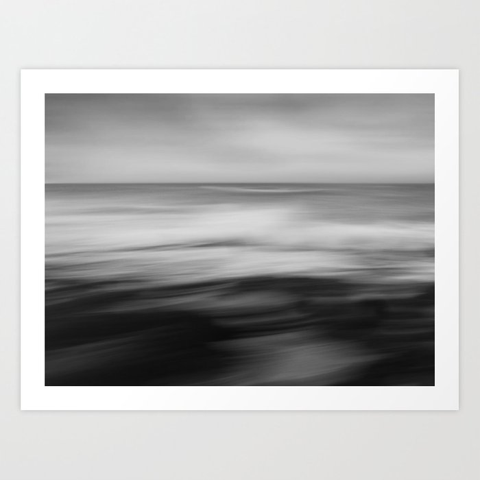 The waves dance Art Print