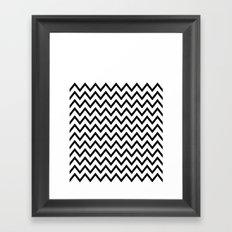 Black Chevron On White Framed Art Print