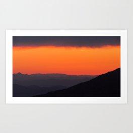 Mountains on Mountains on Mountains Art Print