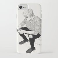 niall iPhone & iPod Cases featuring Niall Sketch by Coconut Wishes