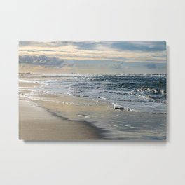 Waves at the Beach Landscape photography - Framed Art Print Color Metal Print