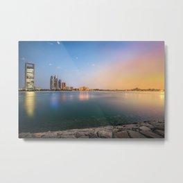 Sunset in Abu Dhabi Metal Print