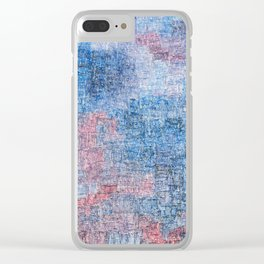 Spacetime Ripples Clear iPhone Case