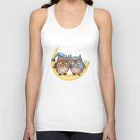 owls Tank Tops featuring Owls by Catru