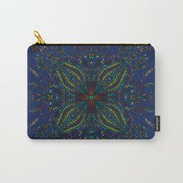 Mexican Chromatic Pattern Blue Carry-All Pouch