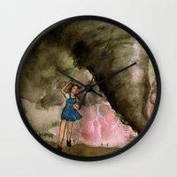 kansas Wall Clocks featuring Leaving Kansas by Jen Hallbrown