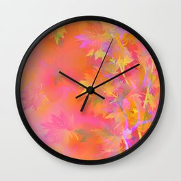 Leaves Changing Colors Wall Clock