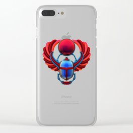 Colorful Egyptian Scarab Clear iPhone Case