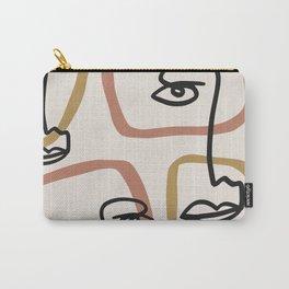 One line fashion portrait Carry-All Pouch