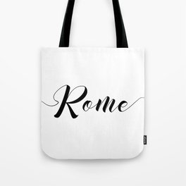 """"""" Travel Collection """" - Rome Typography Tote Bag"""