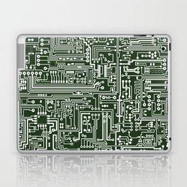 Circuit Board // Green & White Laptop & iPad Skin