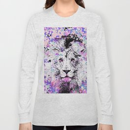 LION PINK and WHITE Long Sleeve T-shirt