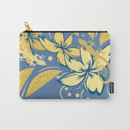 Samoan Orchid Sunset Polynesian Floral Carry-All Pouch