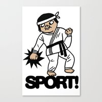 sport Canvas Prints featuring SPORT! by roomo