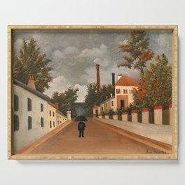 Henri Rousseau - Vue des environs de Paris Serving Tray