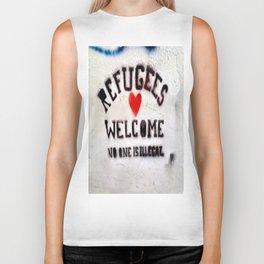 Refugees Welcome Biker Tank