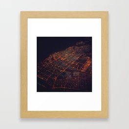 desert lights Framed Art Print