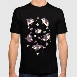 Jelly bean orcas T-shirt